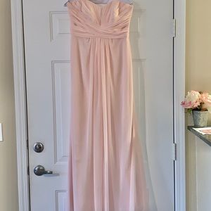 Baby pink bridesmaid dress